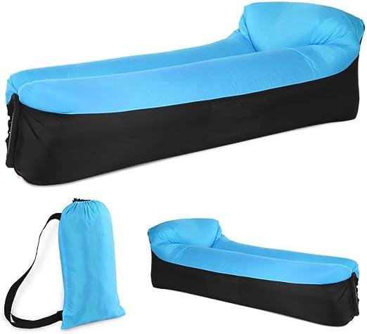 Sofa de canapé d'oreiller de Cou EEM Bleu de Matelas d'air de Gonflable Chaise pneumatique LongueSofa 0PXnw8Ok