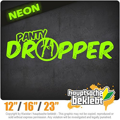(Panty dropper - Available in 3 sizes 15 COLORS - Neon + Chrome! Decal Sticker Bumper Rear Window Vinyl Motorcycle)