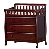 Dream on Me Crib with Changing Table Dream On Me Marcus Changing Table and Dresser, Cherry, Small