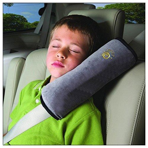 Seggiolino auto cintura di sicurezza Nicebuty morbida spallina copertura cuscino grigio