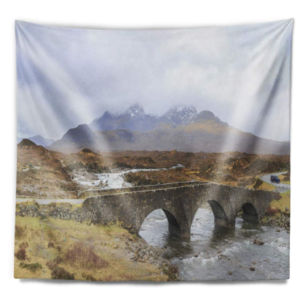 60 x 50 Designart TAP11779-60-50  Sligachan Old Bridge Panorama Landscape Blanket D/écor Art for Home and Office Wall Tapestry Large