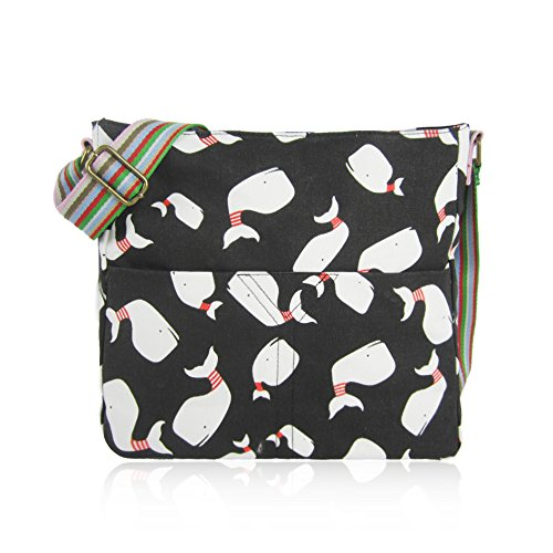 CAT Craze Whale Girls Body RABBIT ELEPHANT London Bags Ladies Canvas CRITTERS black ANCHOR WHALE Bag NEW MIXED School UNICORN Bag Cross UMBERILLA Messenger r1Frtq7xw
