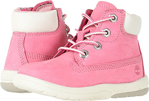 """Timberland Girls' Toddle Tracks 6"""" Boot Ankle, Bright Pink N"""