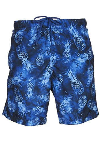 LAGUNA Mens Relaxed Fit Tropical Board Shorts Swim Trunks