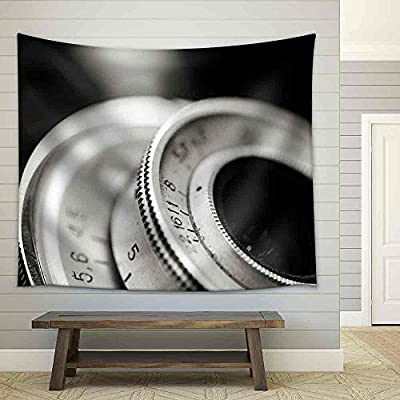 Marvelous Object of Art, Closeup of Old Retro Film Camera Lens Fabric Wall, That's 100% USA Made