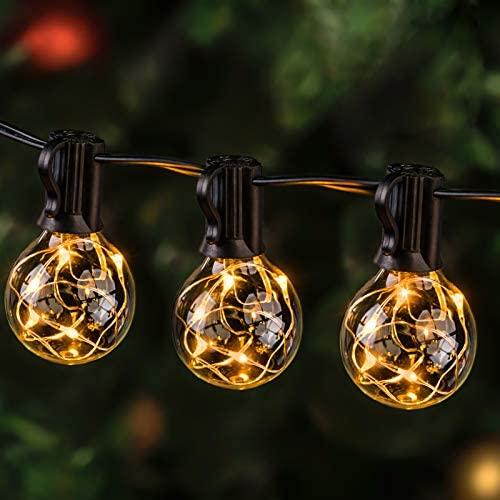 38ft 30 LED Bulbs Globe Ball String Lights Fairy Indoor Outdoor Party Xmas Decor