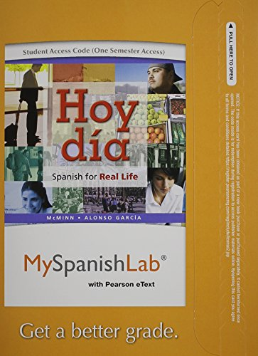 MyLab Spanish with Pearson eText - Access Card - for Hoy día: Spanish for Real Life Vols 1 & 2 (one semester access)