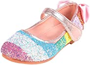 MAIFIF Girl's Dress Shoes Mary Jane Shoes Girls Ballet Shoes for Litter Girls Princess Wedding P