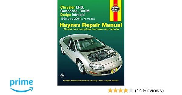 chrysler lhs concorde 300m dodge intrepid 1998 2004 haynes rh amazon com Online Repair Manuals Haynes Repair Manual Online View