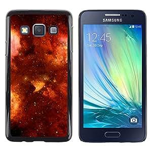 Burning Skies Fiery - Metal de aluminio y de plástico duro Caja del teléfono - Negro - Samsung Galaxy A3