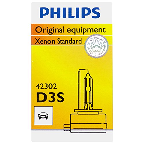 Philips D3S Standard Xenon HID Headlight Bulb, 1 Pack