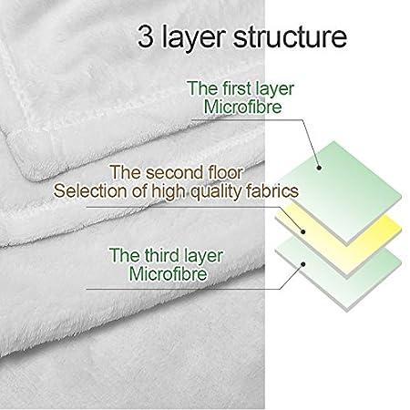 Plaid yisumei Couvertures Douceur souple Couverture polaire jet/é de lit flanelle Licorne Football Wei/ß 100x125 cm Polyester