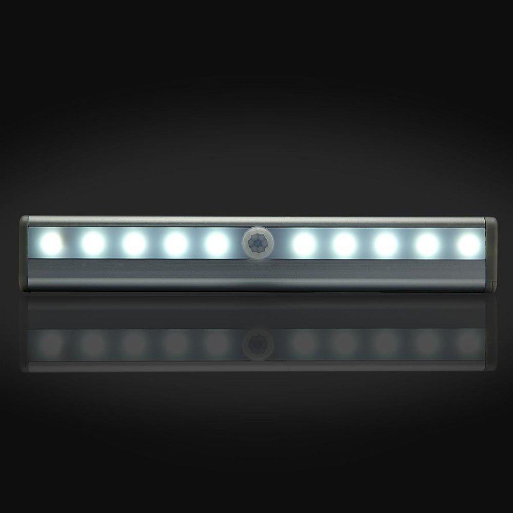 Amazon.com: AMZSTAR Motion Sensing Closet Led Light Bar Stick On Anywhere  Portable 10 LED Wireless Motion Sensing Closet Cabinet LED Night Light  Silvercolor ... Part 39