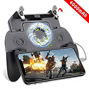 Takyu Mobile Game Controller 4000mAh for iPhone, PUBG iOS & Android Mobile Gaming Trigger Joystick with Battery USB Cable and Cooling Fan, Upgraded ...