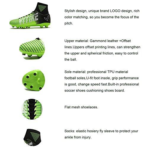 Verde verde Scarpe Bambino E Calcio Unisex arancione Blu Fg Professionale viola Adulto Degli ag Da Colorato F6wZqZ