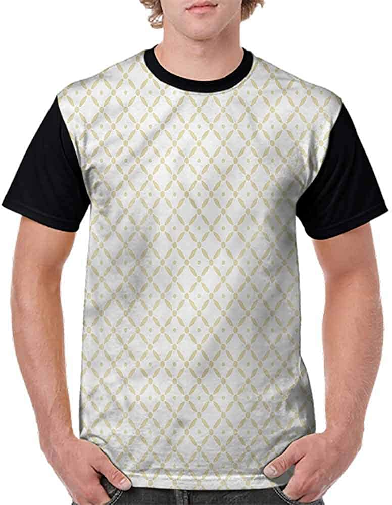 BlountDecor Trend t-Shirt,Checked Pattern Dotted Lines Fashion Personality Customization