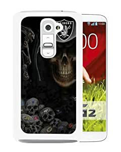 Recommend Design Oakland Raiders White Durable LG G2 Protective Skin Cover Case