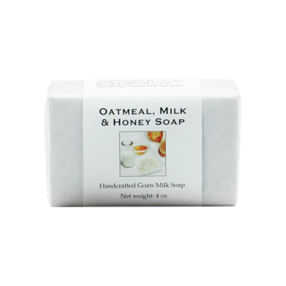 Oatmeal Milk and Honey Handmade Soap with Goat Milk, Shea Butter, Cocoa Butter, Sweet Almond, Fragrance and Essential Oils (One Bar) by MoonDance Soaps and More