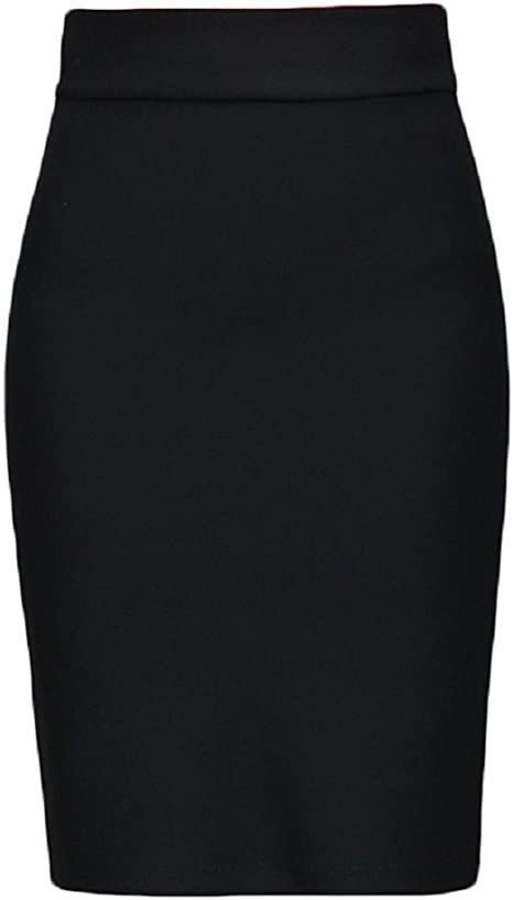 VIO Falda de Bolso Falda Falda Dividida Trabajo Negro Falda de ...