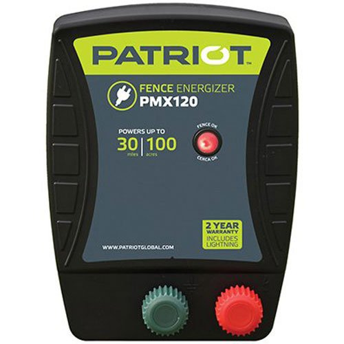 Patriot PMX120 Electric Fence Energizer, 1.2 Joule