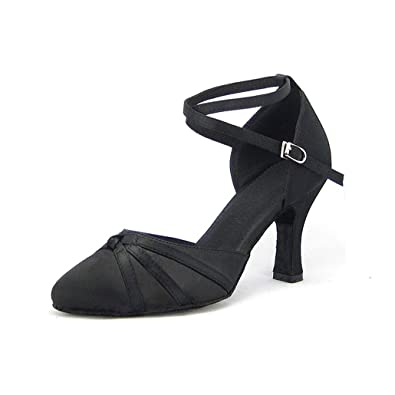 the cheapest sells best place Syrads Chaussures de Danse Latine pour Femme Noir Salsa Confortable  Chaussures Danse de Salon de Tango Valse