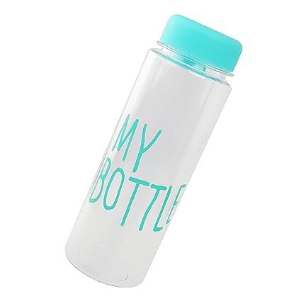 500 Ml De Jugo De Botella De Agua Reutilizable Taza De Leche De Fruta Mano Una