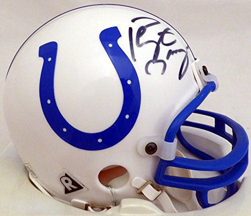 Peyton Manning Autographed Indianapolis Colts Mini Helmet Beckett BAS #E46372