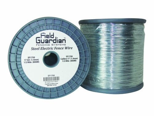 Field Guardian 17-Guage Galvanized Steel Wire, 1/2-Mile - Galvanized Steel Fencing