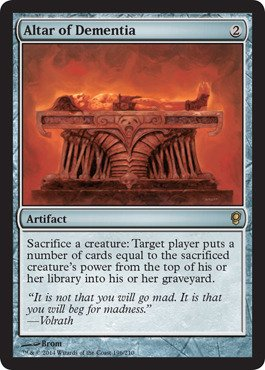 Magic: the Gathering - Altar of Dementia (196/210) - Conspiracy (Types Of Dementia compare prices)