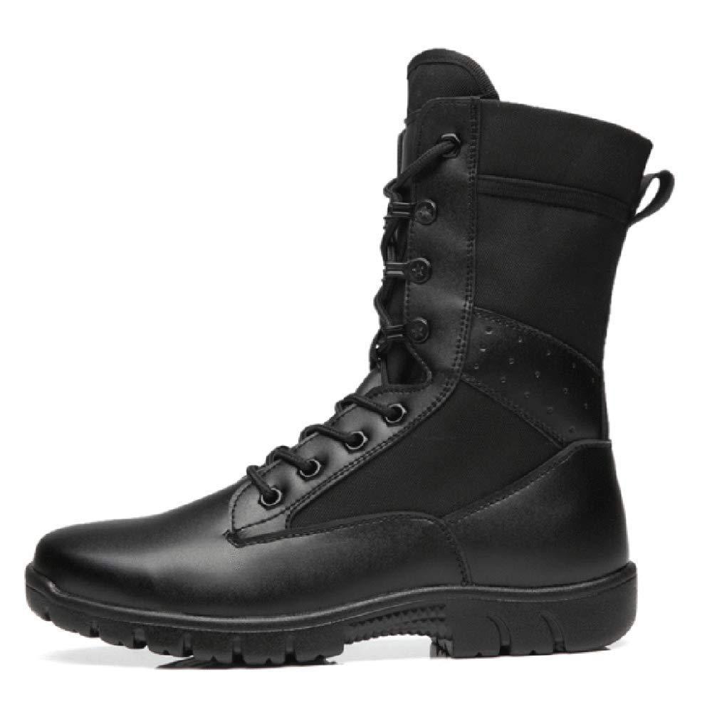 Souy Herren Schnü rschuhe Combat Boots Ultratrainingsschuhe Outdoor-hohe Spitzen Tactical Boots Wandern Desert Boots Army Military Stiefel Anti-Smashing Toe