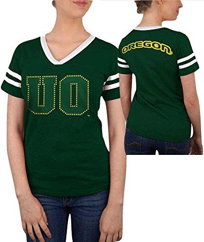 Oregon Ducks Womens Tshirt Green   M