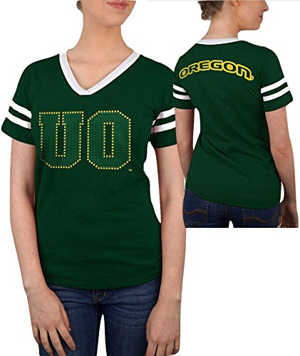 Elite Fan Shop Oregon Ducks Women's Tshirt Captain Green - M