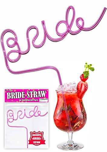 Bride Straw For Bachelorette Party - Bridal Bachelorette Party Straws - Bachelorette Party Drinking Straws - Bride Crazy Straw - Bridal Party Straws Perfect For Bride Bachelorette Party