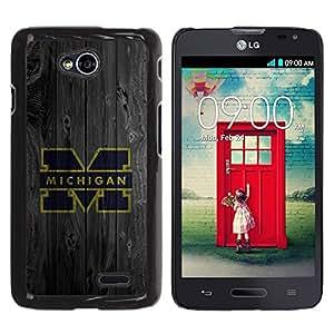 LECELL -- Funda protectora / Cubierta / Piel For LG Optimus L70 / LS620 / D325 / MS323 -- Machine M Football --