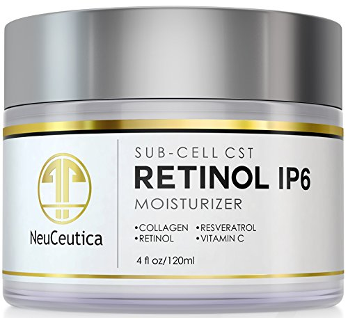 NeuCeutica Retinol Moisturizer Cream Anti Wrinkle for Neck, Face: With Collagen, Vitamin C, Resveratrol - 4 Ounce by NeuCeutica