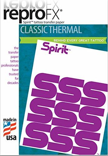 (100 Tattoo Spirit Repro FX Thermal Transfer copy Paper 8oz Stencil Stuff)