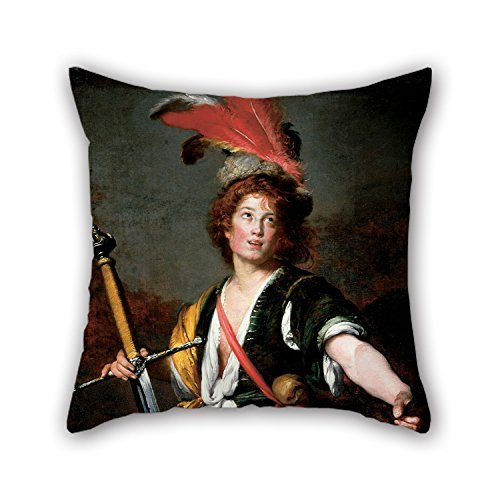 Goliath Sushi (NICEPLW Throw Pillow Covers 20 X 20 Inches / 50 By 50 Cm(each Side) Nice Choice For Play Room,couch,boy Friend,outdoor,him,monther Oil Painting Bernardo Strozzi - David With The Head Of Goliath)