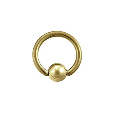 Blue Banana Body Piercing BCR Plasma Gold 1.6mm (Dorado): Amazon.es: Joyería