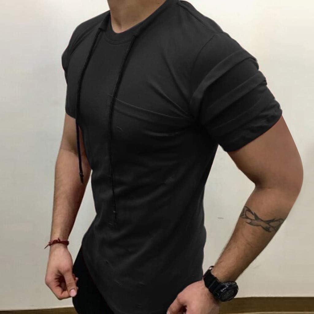 Camisas Hombre Polos Hombre Manga Cortas Bordado Contrast Collar Golf Camiseta Polo de Manga Corta para Hombre Polos Camisetas con Cuello Redondo de Manga Corta Jodier: Amazon.es: Deportes y aire libre