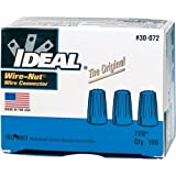 Ideal 30-072 300 Volt Thermoplastic Twist On Wire Connector, Blue, Pack of 100