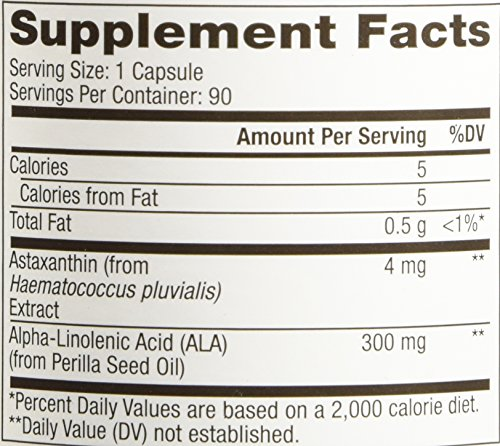 Mercola, Astaxanthin Antioxidant with 300 mg ALA per capsule - 90 Capsules - incensecentral.us
