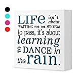 KAUZA Dance In The Rain 5,5 x 5,5in by … - Home Decor Signs, Decorative Signs, Inspirational Plaques