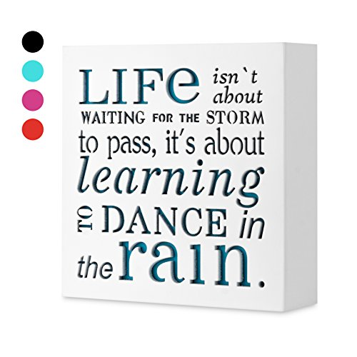 KAUZA Dance In The Rain 5,5 x 5,5in by … - Home Decor Signs, Decorative Signs, Inspirational ()
