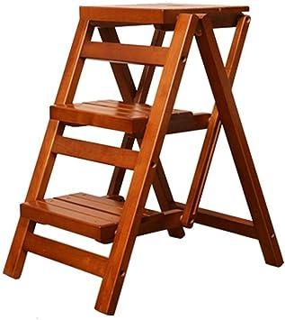 J-Escalera de Tijera Portátil Taburete Escalera Madera Maciza Escalera De Mano Escaleras Plegables Multifuncional Casa Escalera De 3 Pasos Cocina (Color : A): Amazon.es: Bricolaje y herramientas