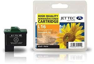 Jettec - Cartucho de tinta para impresoras Compaq IJ650, IJ652, Lexmark i3 X1100, X1110, X1130, X1140, X1150, X1155, X1160, X1170, X1180, X1185, X1190, de la serie X1200, X1240, X1250, X1270, X1290, X2230, X2240, X2250, X72, X74, X75, Z13, Z23e, Z25L, Z33, Z34, Z35, Z512, Z513, Z515, Z517, Z592, Z593, Z597, Z600, Z601, Z602, Z603, Z604, Z605, Z607, Z608, Z612, Z613, Z614, Z615, Z617, Z640, Z645, Z713 y Z75, color negro