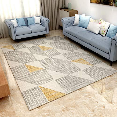 Modern Stripe Geometrydesigne Area Rug, Rubber Backed Non Skid Washable Rug Carpet Baby Crawling Mat,Bedroom Home Decor Carpet,6090CM