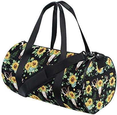 ボストンバッグ ひまわり 柄 ジムバッグ ガーメントバッグ メンズ 大容量 防水 バッグ ビジネス コンパクト スーツバッグ ダッフルバッグ 出張 旅行 キャリーオンバッグ 2WAY 男女兼用