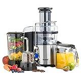 VonShef 220 240 Volts Whole Fruit Juicer, Blender, & Grinder 3 in...