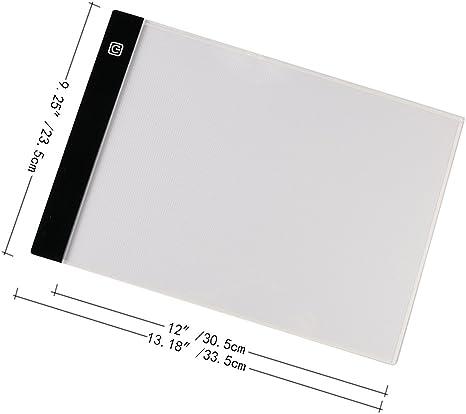 nouvelife Tablet luminosa A4/disegno tavolo luminosa A4/LED/ /Tavola luminosa disegno ultra piatto 3/livelli di luminosit/à tasto touch alimentata tramite cavo USB per trasferimento disegno calligrafia Scrapbooking con