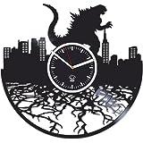 Godzilla Movies, Vinyl Wall Clock, Vinyl Record, Kovides, Godzilla Clock, Valentines Day Gift For Boy, Birthday Gift For Kids, Handmade Best Gift For Husband, Wall Clock Large, Valentines Day Gift
